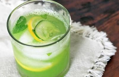 Cucumber lemonade can make your Iftaar special! Ingredients: 1 large cucumber ½ cup lemon juice 1 tsp lemon zest 6 cups water ¾ tsp salt Few ice cubes ¾ cup honey  Method:  Peel cucumber, make few large slices and keep aside for garnishing. Chop cucumber, add 2 cups of water in blender with cucumber pieces, honey. Blend for 3-4 minutes. Sieve drink and add remaining water in a large bowl. Add salt,lemon juice, lemon zest and stir well to combine. Sieve again if preferred.