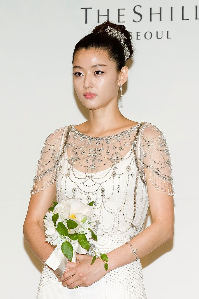 Choi Joon Hyuk Jun Ji-hyun : ji-hyun, SEOUL,, SOUTH, KOREA, APRIL, South, Korean, Actress, Gianna, (Jeon, Ji-Hyun), Talks, Media, Prior, Weddin…, Wedding,, Actress,, Actresses