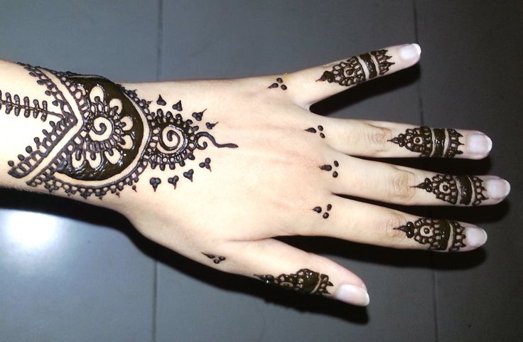 Mehndi Designs For Nails : Simple arabic henna easy stylish mehndi tattoo design