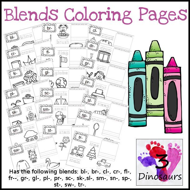 Blends Coloring Pages have the following blends: bl-, br ...