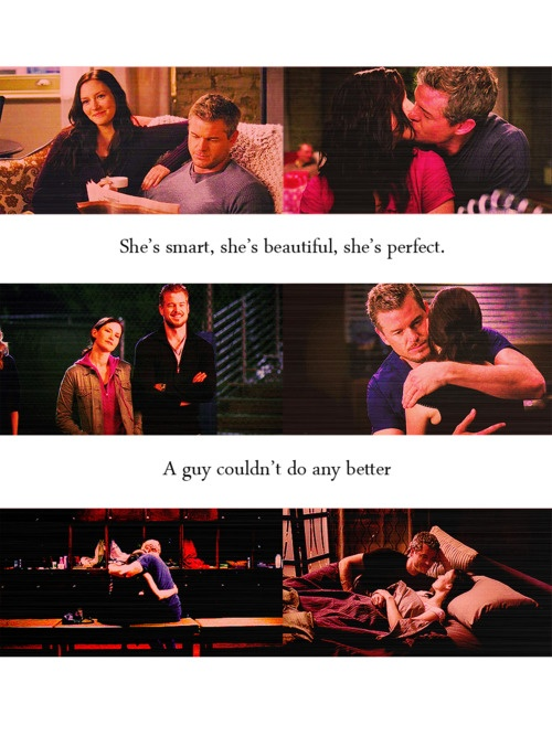She's smart, she's beautiful, she's perfect. A guy couldn't do any better. Mark Sloan about Lexie Grey; Grey's Anatomy quotes.