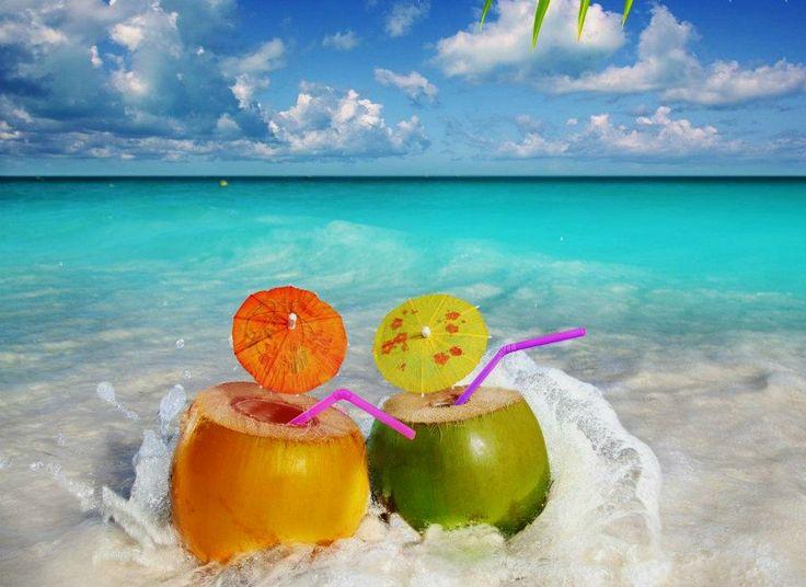 Summer Umbrella Drink At The Beach