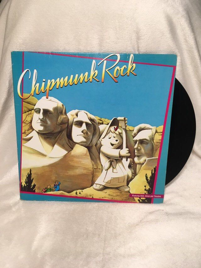 Vintage Chipmunk Rock Vinyl Lp Record 1982 Canada Pressing Vinyl Best 90s Cartoons 90s Cartoons