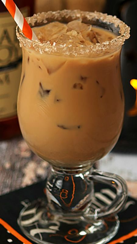 The Halloween Express – Rum, Espresso, Maple Syrup and Half and Half... A sweet and warming cocktail reminiscent of Kahlua and Cream...but better!