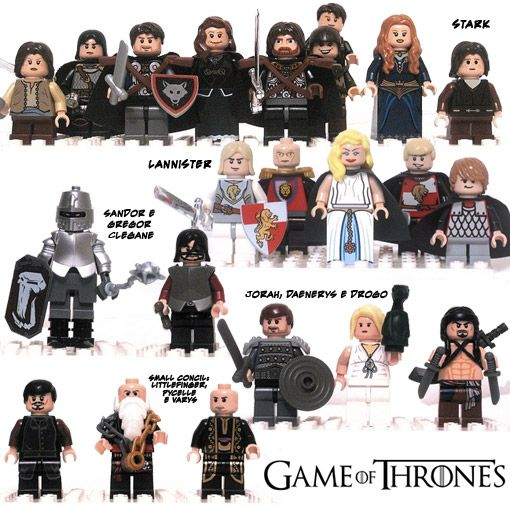 Game of Thrones Lego - I'm thinking these these are Legos for grownups! ;)