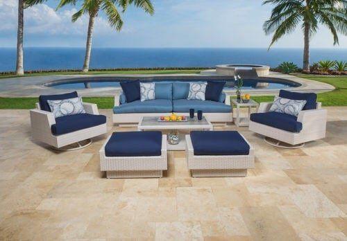 The Santorini Outdoor Garden Furniture Collection Rrp 4 895 And Gardens