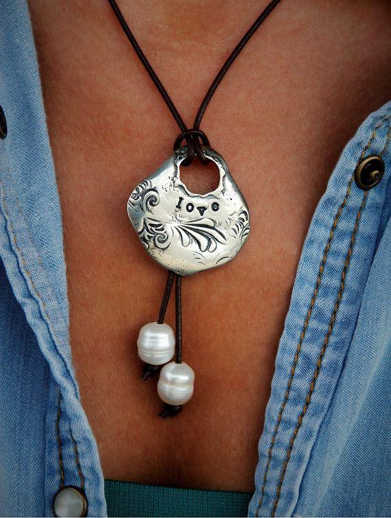 Boho Jewelry Necklace Boho Necklace Boho Leather by HappyGoLicky
