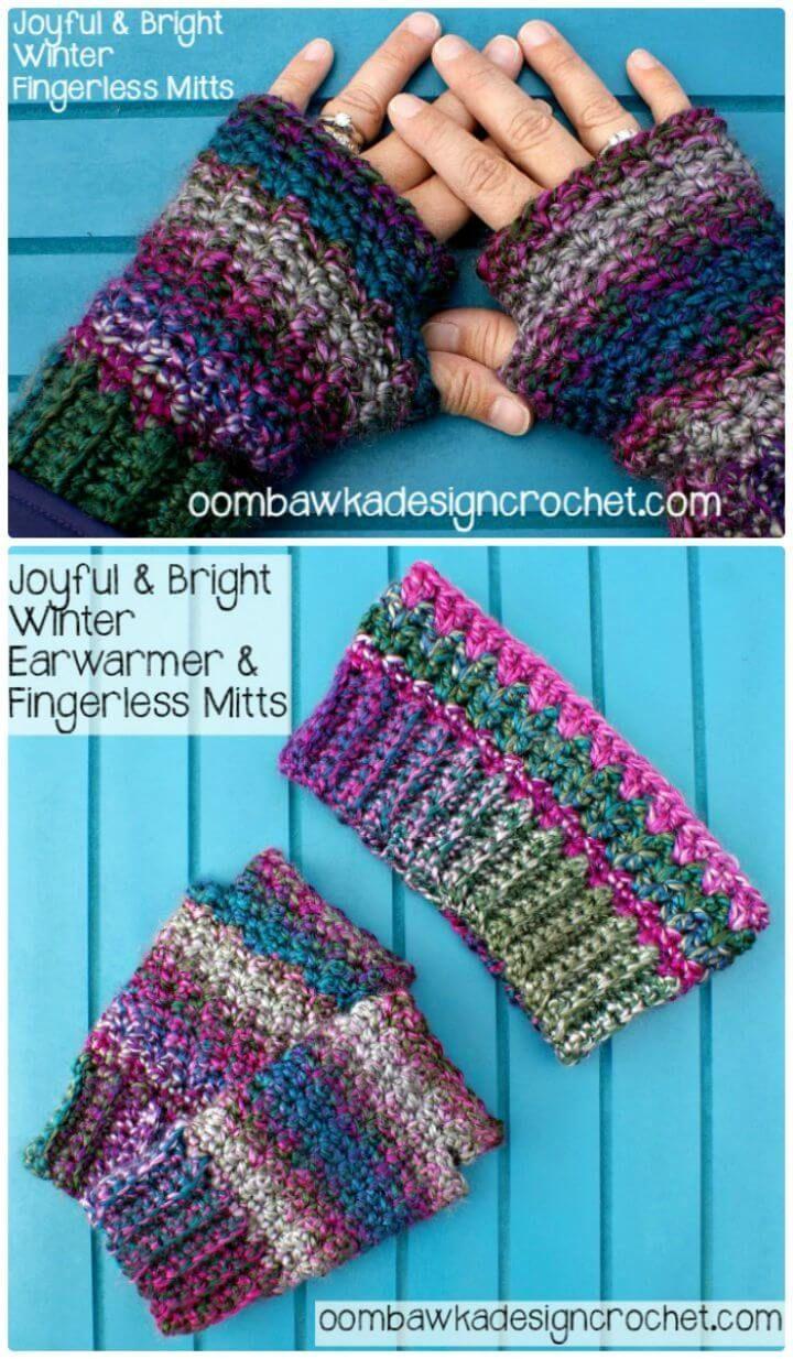 54 Free Crochet Fingerless Gloves Pattern for Beginners   Crochet ...