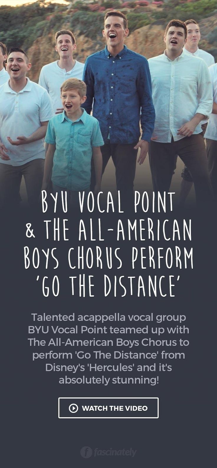 BYU Vocal Point & The All-American Boys Chorus Perform 'Go The Distance'