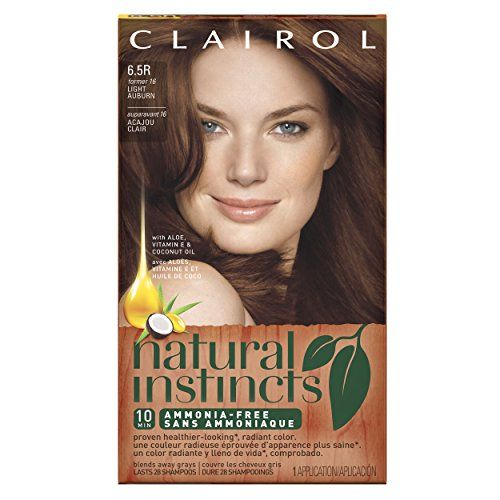 Clairol Natural Instincts Hair Color, Light Auburn 6.5R (16), 1 kit Clairol