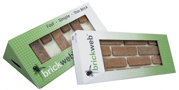 "Just saw this on DIY Network's show, ""I Want That"". It's called ""Brick Web"", and I am absolutely in LOVE. It's actual brick, but thinly cut, and put on a sheet, so you can make any space look like it's been there for hundreds of years. I am SO using this!!!"