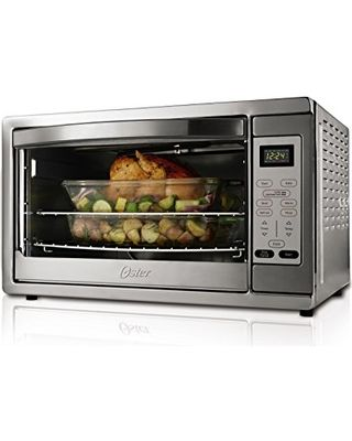 Oster Extra Large Capacity Countertop 6-Slice Digital Convection Toaster Oven, Stainless Steel, TSSTTVDGXL-SHP