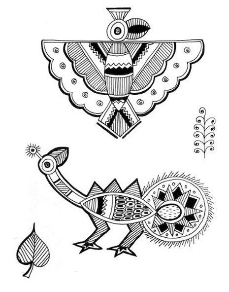 Indian Painting Styles...Madhubani/Mithila  Painting (Bihar)-madhubani-motifs1-8-.jpg
