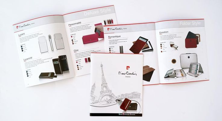 Design, Photo Editting & printing of the advertising brochures of Pierre Cardin by ThinkBAG.
