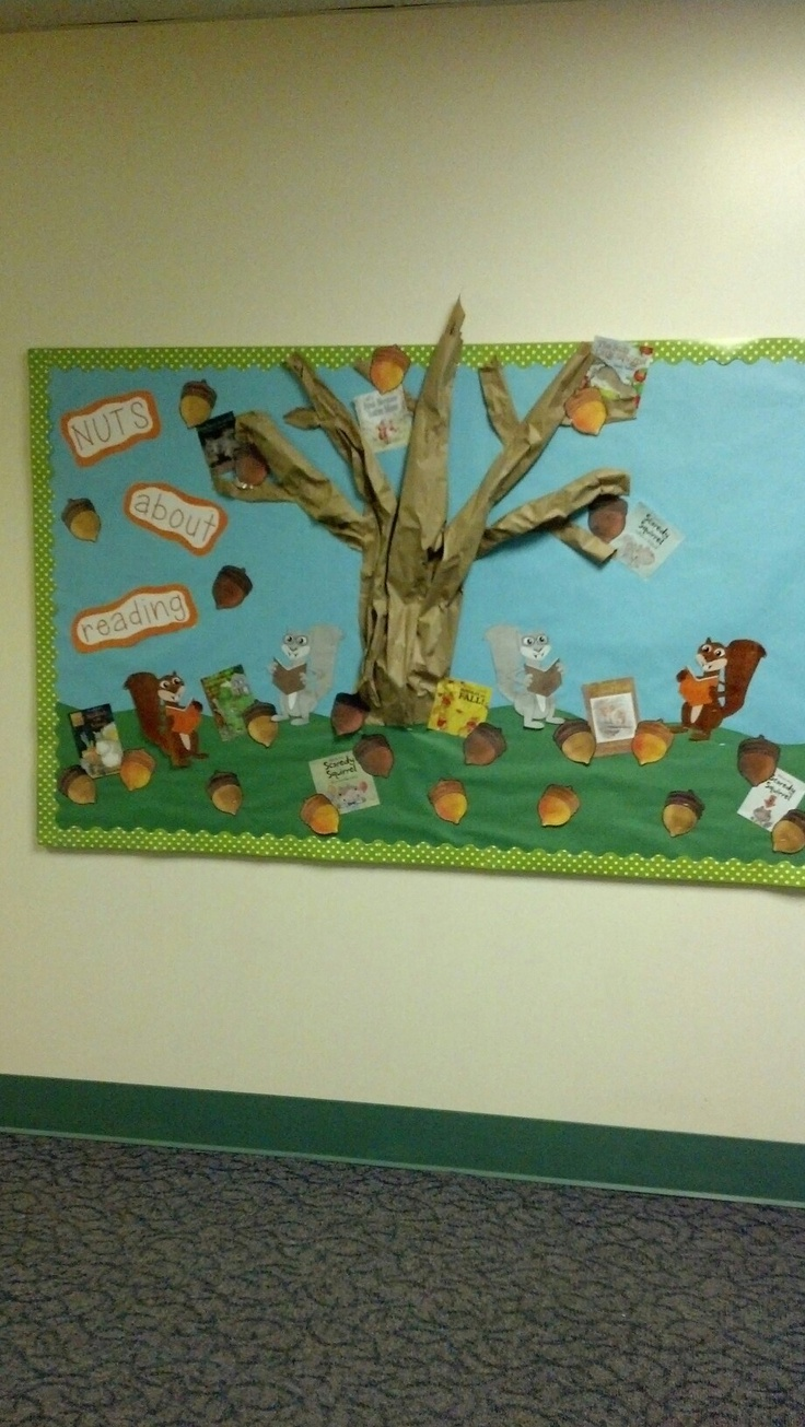 Go green vegetable bulletin board idea myclassroomideas com - Nuts About Reading I Would Change This To Nuts About Jesus And Use It At Fall Bulletin Boardssunday Schoolschool Ideas