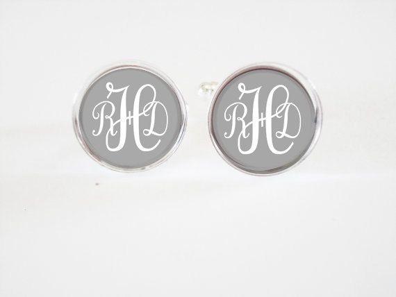 Monogrammed Cufflinks  personalized mens cufflinks by BREADWINNERS, $14.95