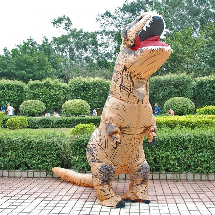 Costume Dinosaur Costumes T REX Blow Up Fancy Dress Mascot Cosplay