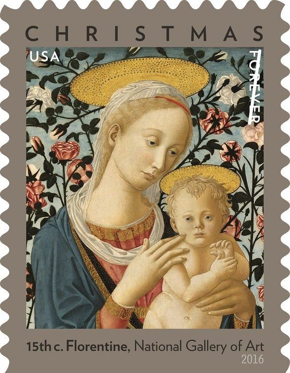 How Much Is The 2020 Madonna Christmas Stamp Thats A Forever Stamp Florentine Madonna and Child Holiday Forever Stamp/ forever | Etsy