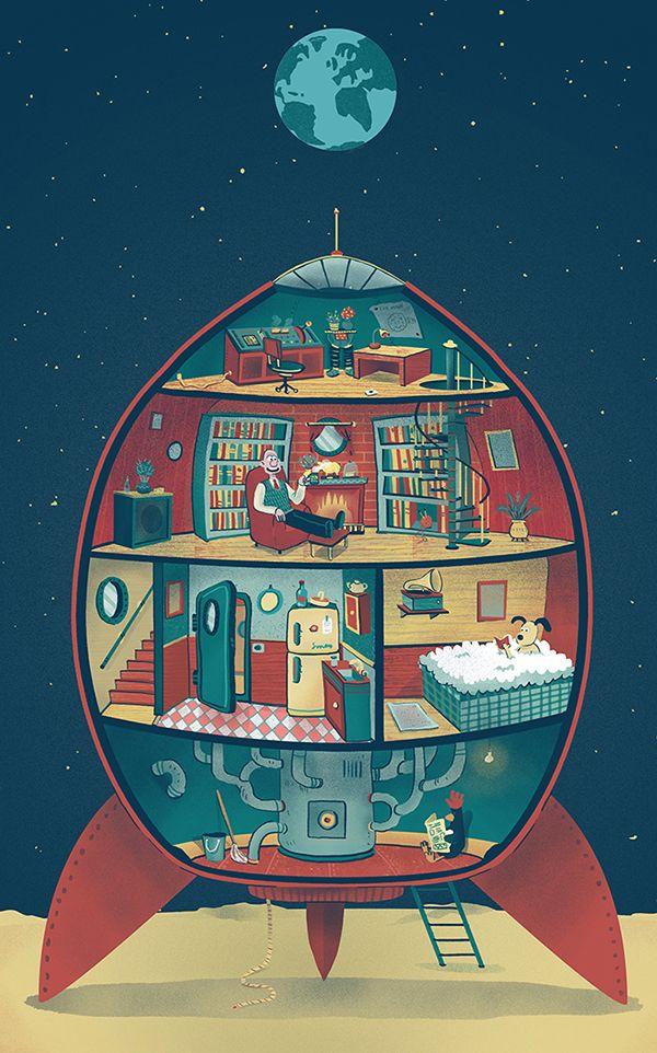 Wallace & Gromit - Andrés Lozano Illustration