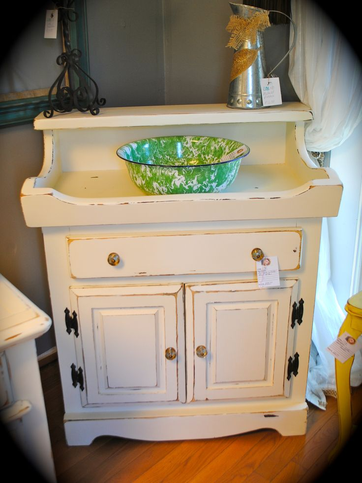 Vintage handed painted dry sink by Laura Camry Boutique http://www.facebook.com/lauracamryboutique