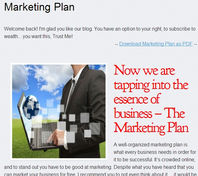 smoothie business marketing plan This marketing plan tends to analyze how innocent get in to the chinese market and come p with some coping strategy the business mission is to obtain a successful market share for smoothie in gudgeon target market the target market of innocent can be mainly divided into 3 group below.