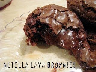 nutella lava brownies