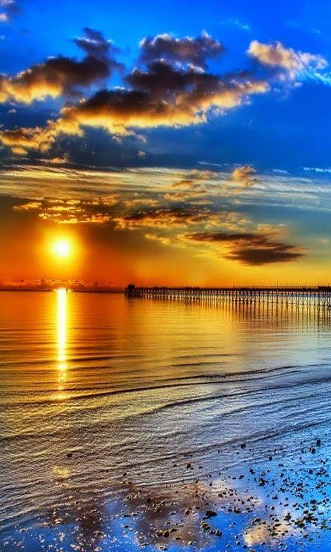 Blue + orange sunset.