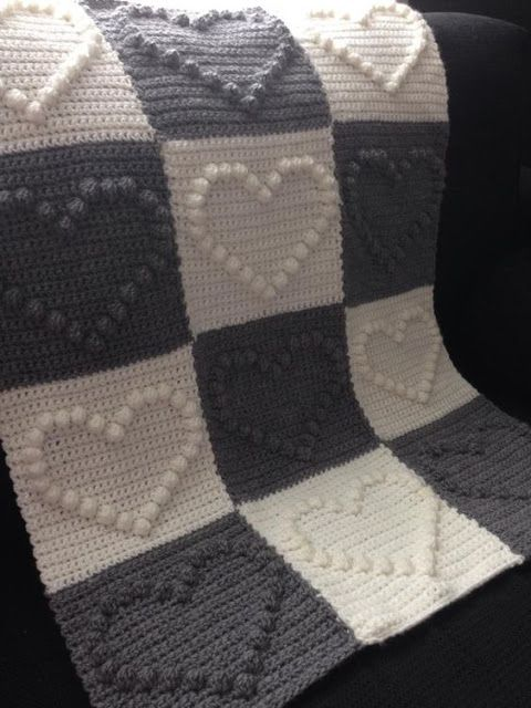 Crochet bobble stitch ~ Free Patterns