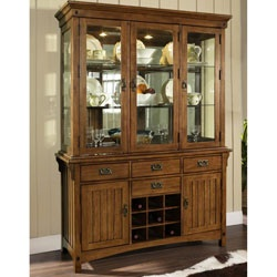 @Overstock - This craftsman style hutch is made of hardwood solids and veneers, ideal for everyday use. This furniture piece has four drawers and two doors with adjustable shelves behind.http://www.overstock.com/Home-Garden/Somerton-Craftsman-Hutch-with-Buffet/5998302/product.html?CID=214117 $2,045.99
