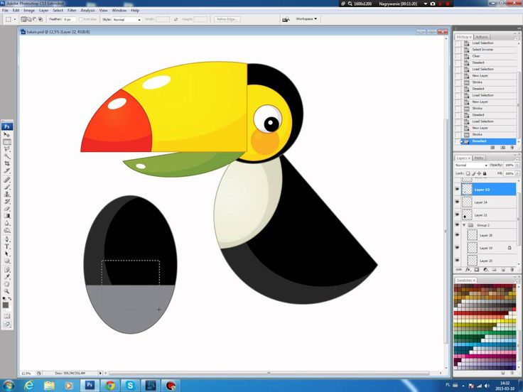 Illustrating drawing painting - cartoon Toucan Jak namalować tukana