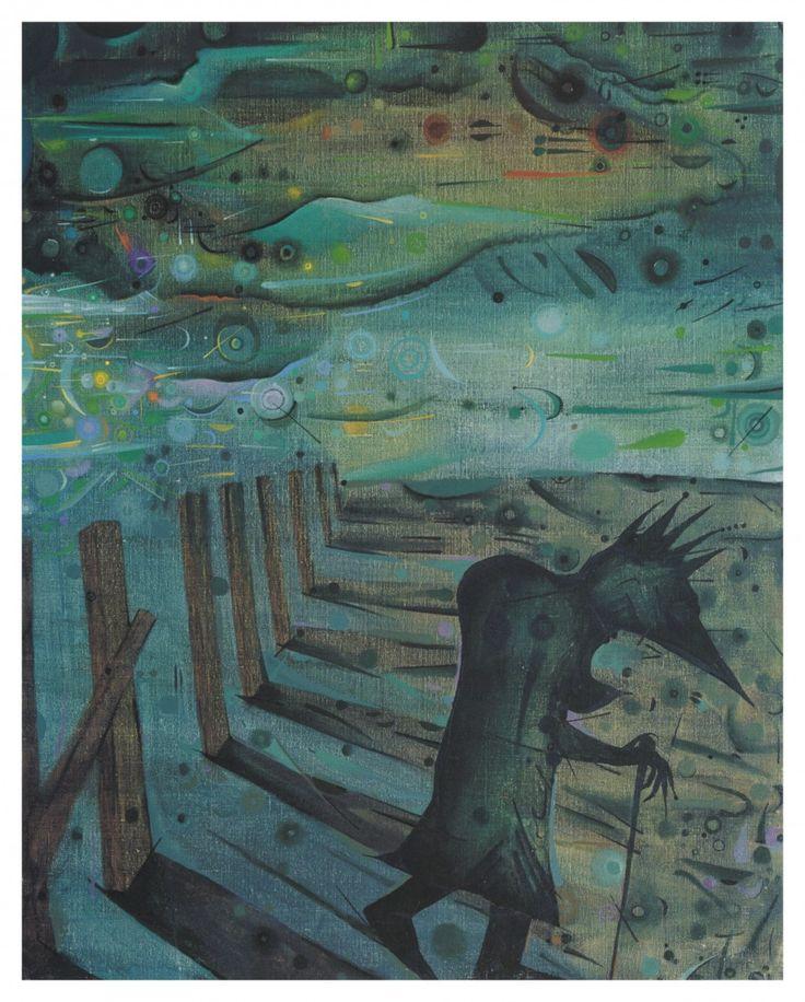 Joan Ponç, Homes i estaques, 1984