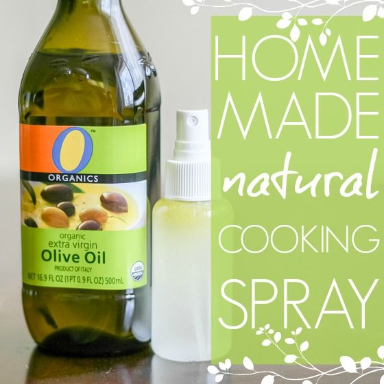 Have you ever wished for the ease of aerosol cooking spray, but loathed putting additional chemicals and ingredients into the food you cook for your family? Making your own cooking spray is easy and affordable, and has only two natural ingredients: water and olive oil!    Most of the cooking spray