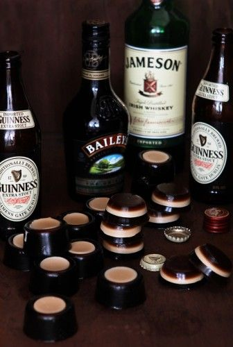 """[recipe] Irish Car Bomb Jell-O Shots: """"No more worries of having to invoke those college days when you had to guzzle this drink quickly just to avoid the curdle. No, we've grown up, we can self-moderate and we can do so gracefully with a treat that won't leave guzzling trails at the corner of our mouths.""""  HELL YES!"""