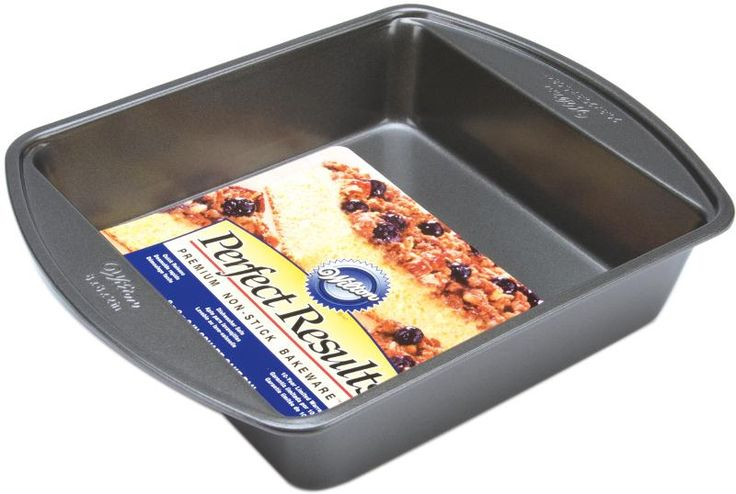 "wholesalePerfect Results Square Cake Pan - 8"" x 8"" x 2"" (Case of 2)"