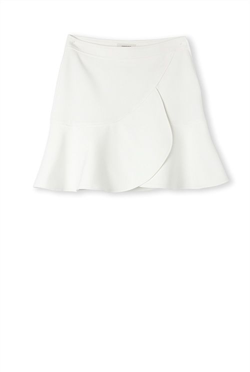 Country Road Ruffle Skirt #white #skirt