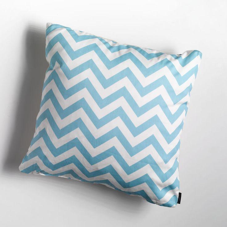 Chevron blue cushion