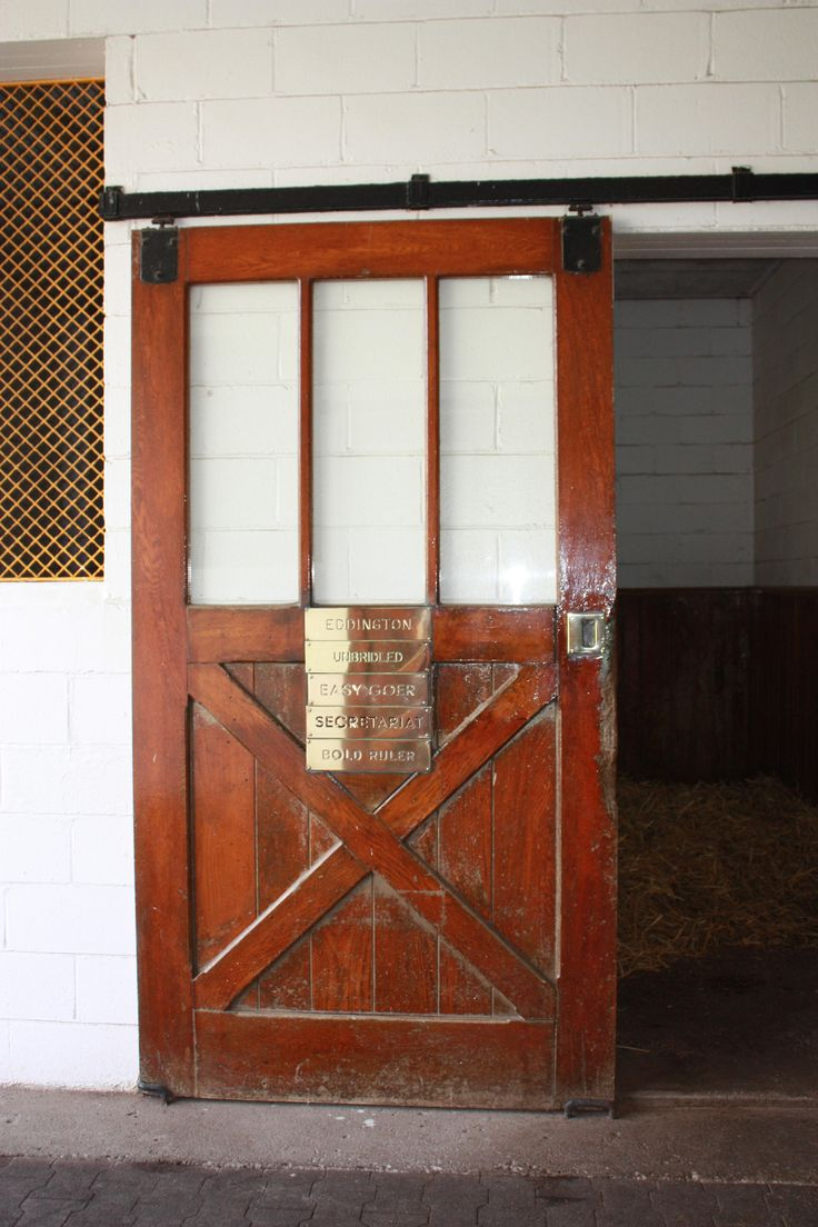 Stall of Secretariat ~ remains unused.  I've been there and it's wonderful.  Claiborne Farms!