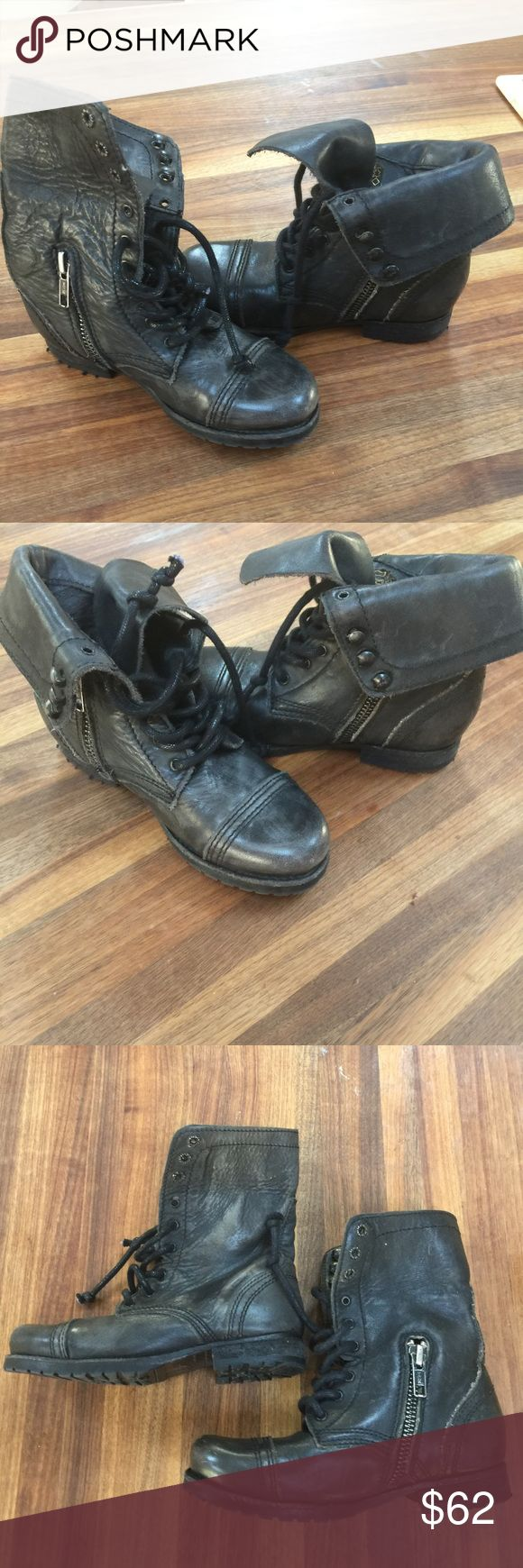 ALLSAINTS Spitalfields military boots for kids ALLSAINTS Spitafields military style black kids boots. Boy or girl. Sz UK28 US10/10.5.  Worn once. ALLSAINTS Shoes Boots