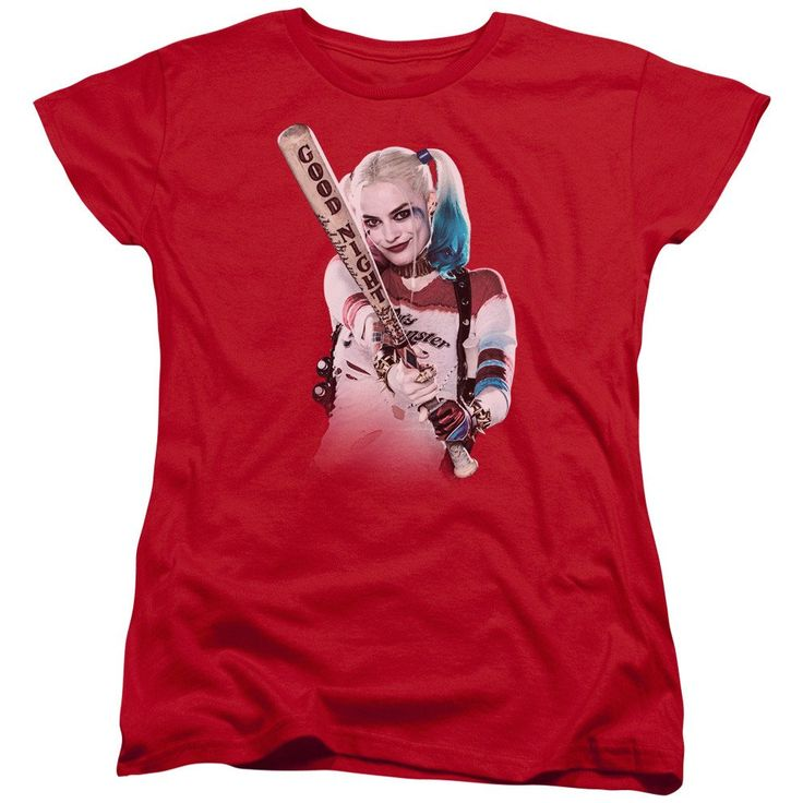 Suicide Squad Bat at You Womens Tee - Red - Officially Licensed - High Quality - 100% Pre-Shrunk High Quality Soft Spun Cotton / Fabric Weight 5.5 oz. - Pre-Shrunk to Minimize Shrinkage - Features a L