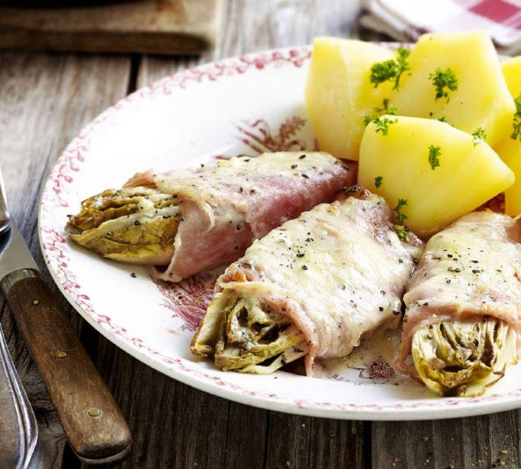 Witloof met peperkaas en ham uit de oven