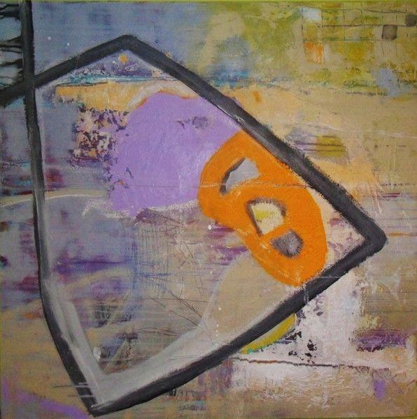Acrylmalerei Abstraktes Bild Grosses Gemalde Lila Grau Ein