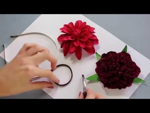 В этом мастер классе вы узнаете как крепить цветы из фоамирана на ободок, резинку для волос и зажим. Автор: Марина Мартьянова Ссылка на распродажу МК: http:/...