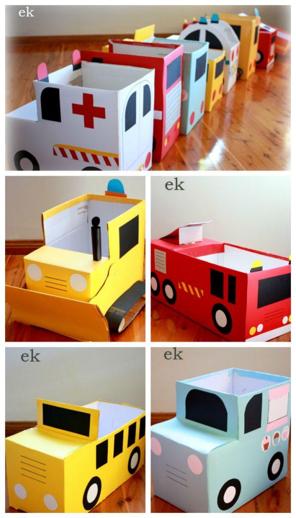 Karton Fahrzeuge   – Cosas que se pueden hacer con cajas de cartón