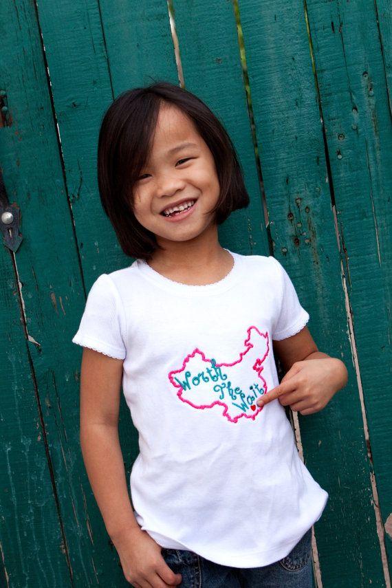 China Adoption Awareness Worth the Wait Shirt- etsy