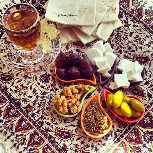 mixture of Persian and Arabic Breakfast