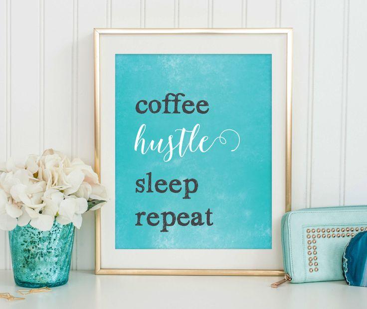 Hustle Print - Girl Boss - Entrepreneur Print - Digital Download PDF - Inspirational Quote Printable - Motivational Quote - Office Decor