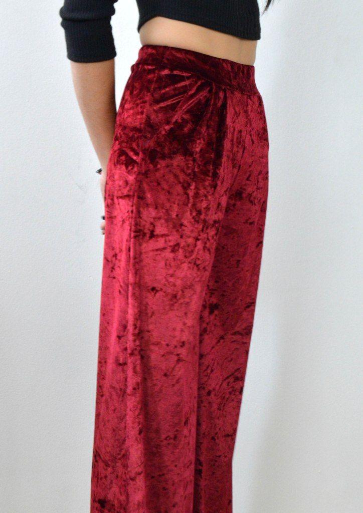 Παντελόνα Βελούδο Ψηλόμεση - ΜΠΟΡΝΤΟ   shop online: www.musitsa.com