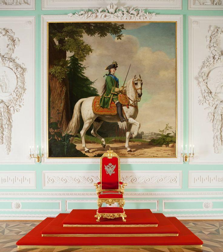 """В. Эриксен """"Конный портрет Екатерины Великой"""", 1762. Большой дворец, Тронный зал"""