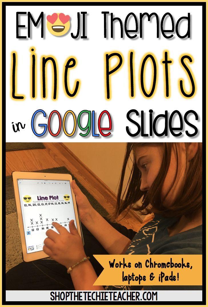 Emoji themed line plot practice in Google Slides. Works on Chromebooks, laptops and iPads!