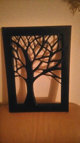 Cut out tree canvas by Karen Ainsworth
